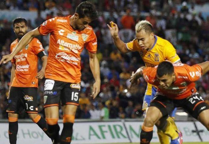 Jaguares de Chiapas volvió a dar la campanada en la Liga MX, luego de vencer 1-0 a los Tigres de Ferretti, en duelo de la jornada 4 de la Liga MX.(Foto tomada de Mediotiempo)