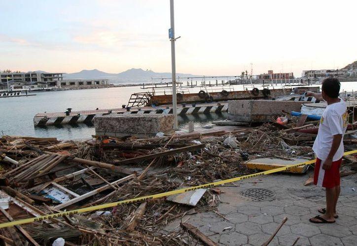El huracán Odile, ahora degradado a tormenta tropical, no solo afectó seriamente a Baja California Sur, sino también a otros estados como Tamaulipas y Sonora. (Notimex)