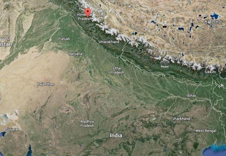 Los accidentados en el rio Bear de India eran parte de un grupo de 60 estudiantes y profesores del Instituto de Ingeniera VNR de Hyderabad. (Google Maps)