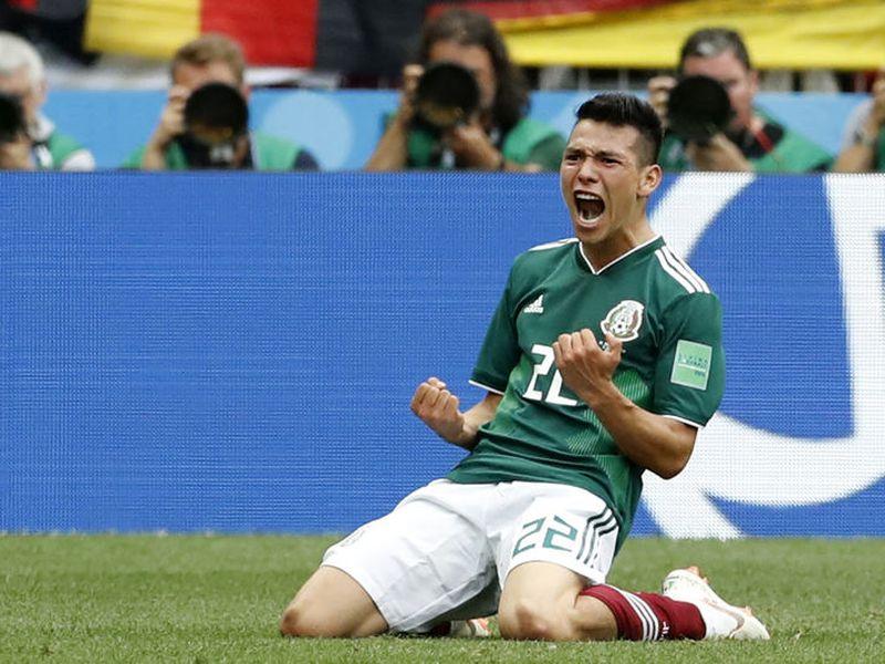 'Chucky' Lozano anotó hace unos minutos su primer gol en un Mundial, y le está dando a México la victoria sobre el campeóon del mundo en plena Copa del Mundo. Sorpresota (Foto: AP)