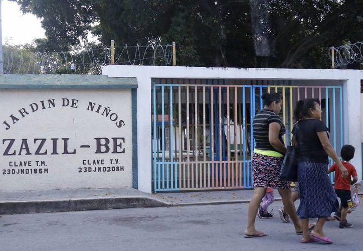 Los hechos se registraron en el jardín de niños Zazil-Be. (Jesús Tijerina/SIPSE)