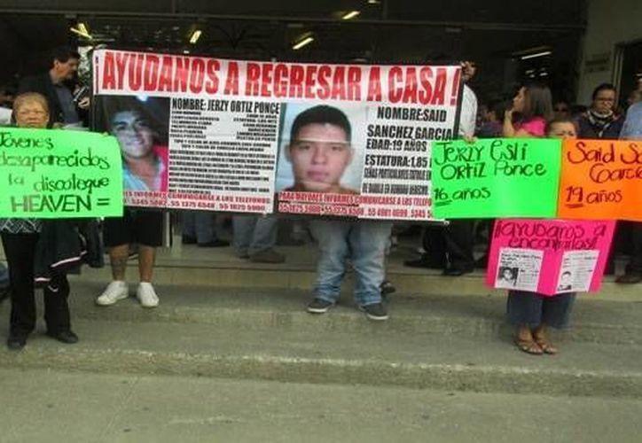 Familiares exigen investigar el paradero de los jóvenes. (Archivo/Agencias)