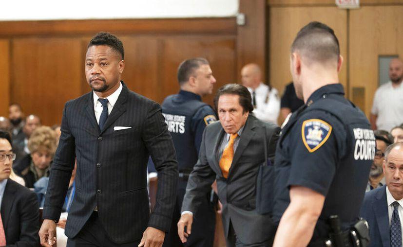 Cuba Gooding Jr. comparece en una corte en Nueva York el jueves 10 de octubre de 2019. El actor está acusado de manosear a una mujer de 29 en un bar en Nueva York el 9 de junio. (Steven Hirsch/New York Post via AP, Pool)