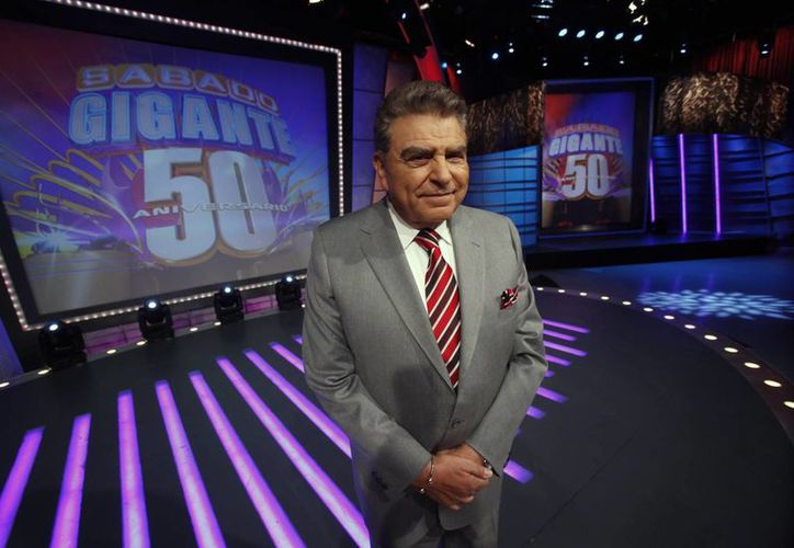 """Don Francisco señaló que el galardón no es un mérito propio sino de todo el equipo de su programa televisivo """"Sábado Gigante"""". (Agencias)"""