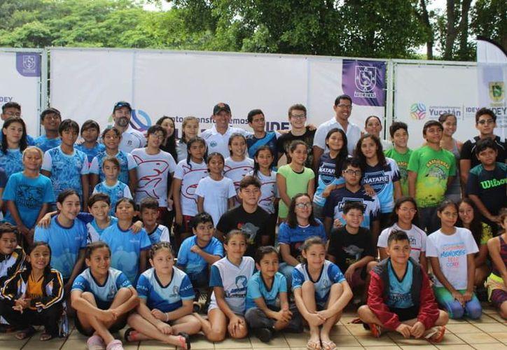 En el Estado existe mucho interés en niños que practican natación, principalmente en aguas abiertas. (Novedades Yucatán)