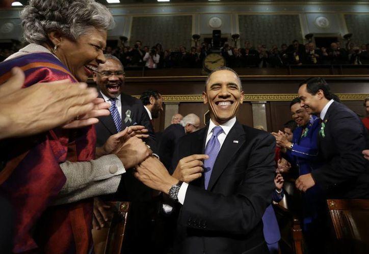 Obama dedicó menos tiempo a la política exterior en su discurso de este año. (Agencias)