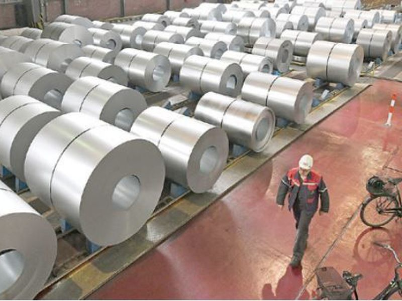 In this photo steel coils are stored at the Thyssenkrupp steel factory in Duisburg, Germany. The Trump administration announced that it will impose tariffs on steel and aluminum imports from Europe, Mexico and Canada.