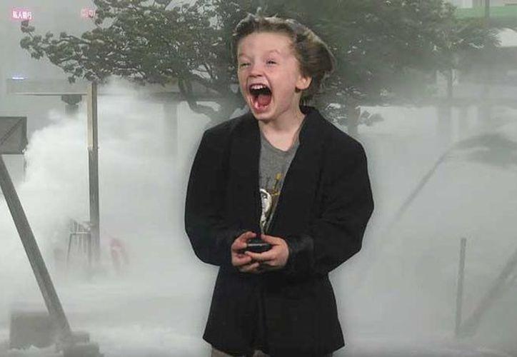 Un niño estadounidense grabó un pronóstico del tiempo. (Captura YouTube)