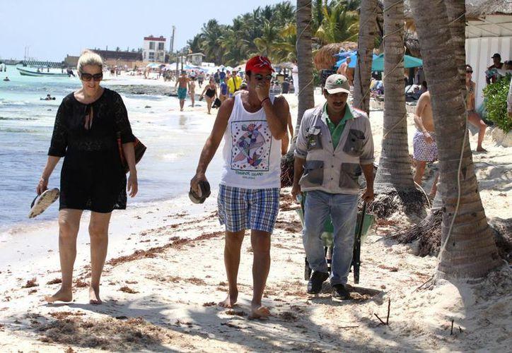 Los hoteleros de la Riviera Maya plantearon en el Tianguis Turístico de Guadalajara la necesidad de combatir la erosión. (Adrián Barreto/SIPSE)