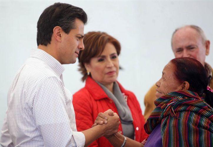La titular de Sedesol durante un acto presidido por Enrique Peña Nieto. (Notimex)