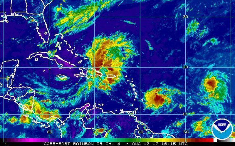 Tormenta tropical Harvey entra al Mar Caribe