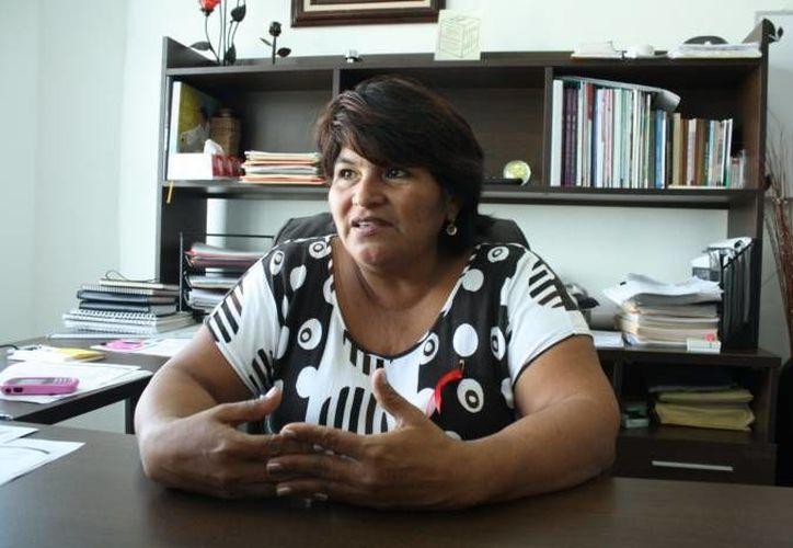 Angeles Sánchez declaró se estima la conclusión de la construcción de los plantes para diciembre o enero. (Archivo/SIPSE)