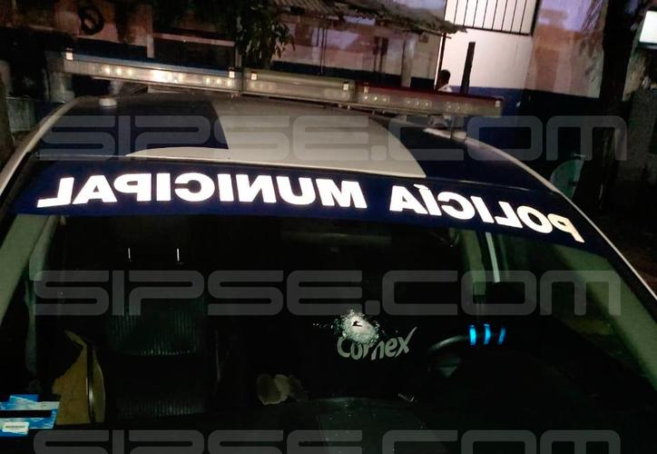La unidad de Tránsito baleada es un Nissan Altima número 5577. (Redacción/SIPSE)