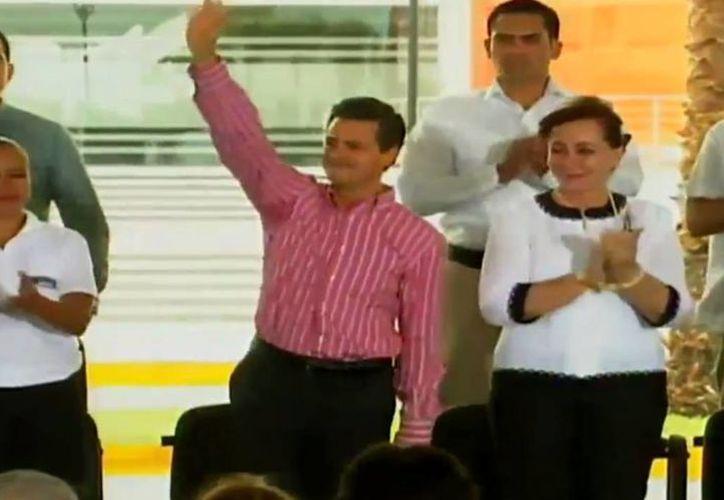 Peña Nieto durante la inauguración del Centro Regional de Formación Docente e Investigación Educativa en Ciudad Victoria, Tamaulipas. (Captura de pantalla del video de la Presidencia de la República, en YouTube)