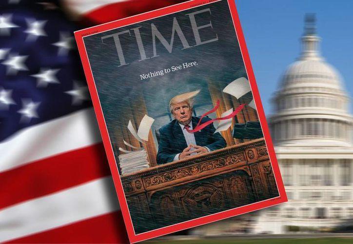La revista Time señala que la administración de Donald Trump ha desatado 'una sensación de caos constante'. (Fotocomposición: SIPSE.com)