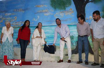 """Inauguración del mural """"Mar Caribe"""""""