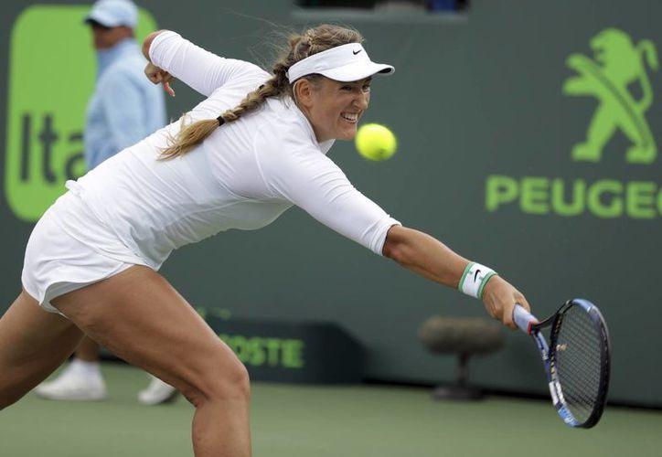 Victoria Azarenka enfrentará a la ganadora del duelo entre Angelique Kerber y Madison Keys. (AP)