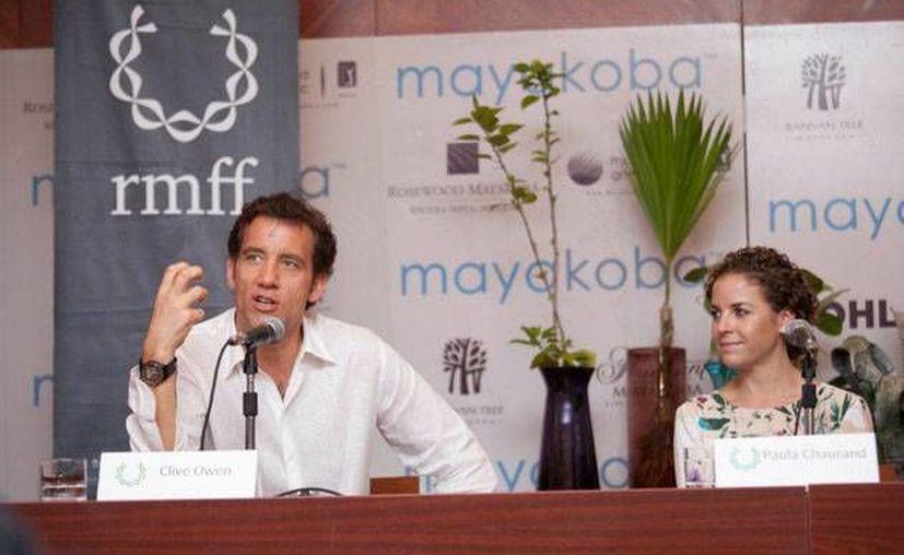 En la edición de 2012 el evento registró afluencia de 21 mil espectadores; en la imagen el actor Clive Owen en conferencia de prensa. (Redacción/SIPSE)