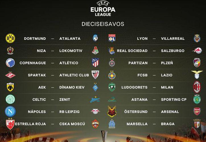 Este lunes quedaron definidos los duelos de dieciseisavos de final de la Europa League, (Foto: Futbol Sapiens)