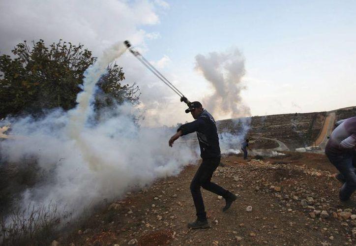Se trata del segundo avión no tripulado que cae en manos de los palestinos. (EFE)