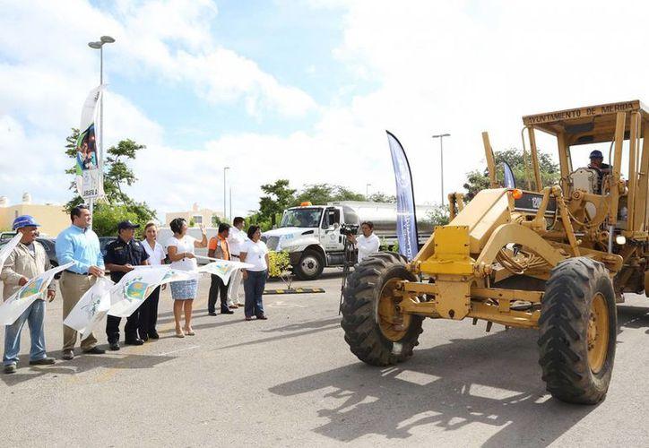 El banderazo de salida de las nuevas obras en Mérida. (Cortesía)