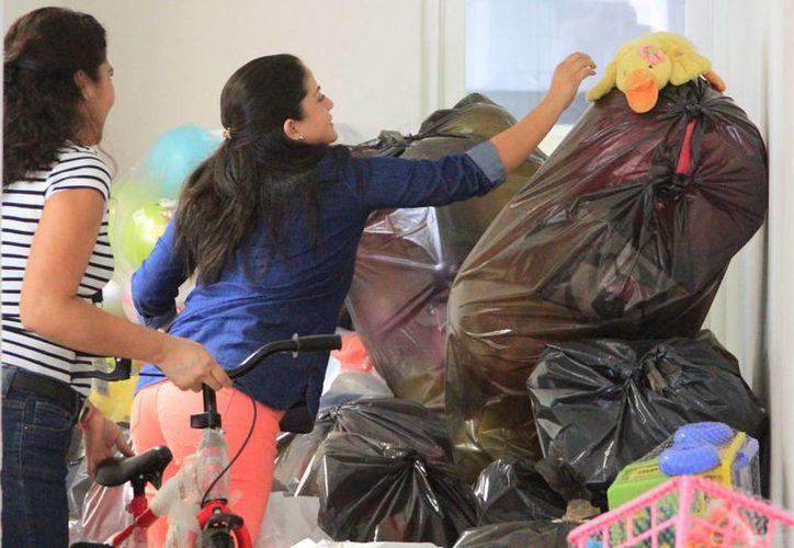 La meta de este año fue lograr la cantidad de 10 mil juguetes donados, que Grupo SIPSE logró. (Ángel Castilla/SIPSE)