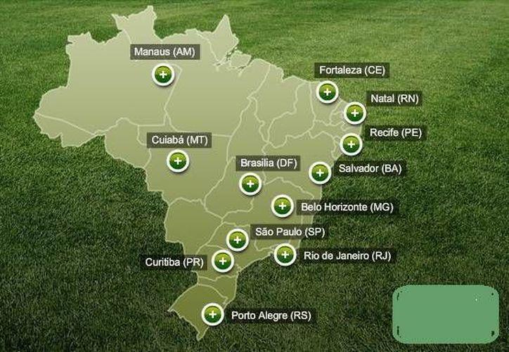 Brasil se niega a aceptar ayuda de aerolíneas extranjeras durante el Mundial de 2014, pese a que miles de personas requerirán trasladarse en 12 ciudades sedes. (soymapas.com)