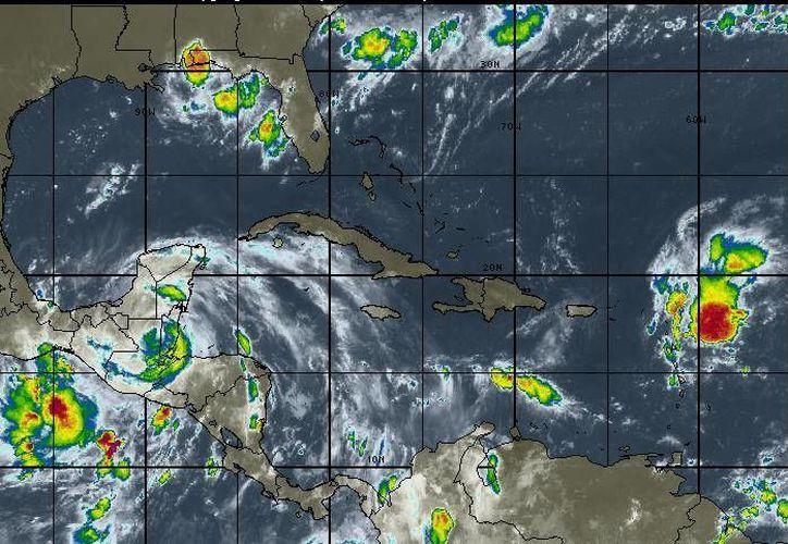 La probabilidad de lluvias en Chetumal es del 80%. (Intellicast)