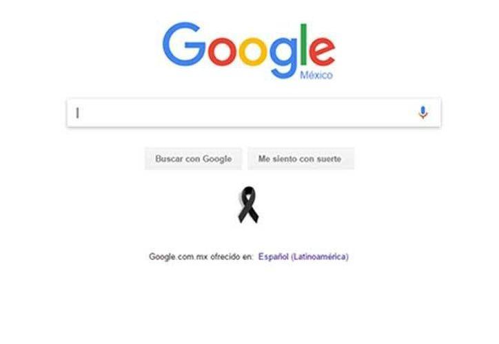 Google se solidarizó con las víctimas de la tragedia ocurrida en el Colegio Americano del Noreste de Monterrey.(Captura de pantalla/Google)