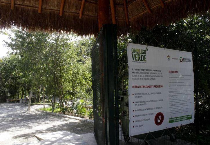 El parque ecológico Ombligo Verde, que se construyó en el  área identificada como el pulmón de la ciudad, recibe pocas visitas. (Francisco Gálvez/SIPSE)