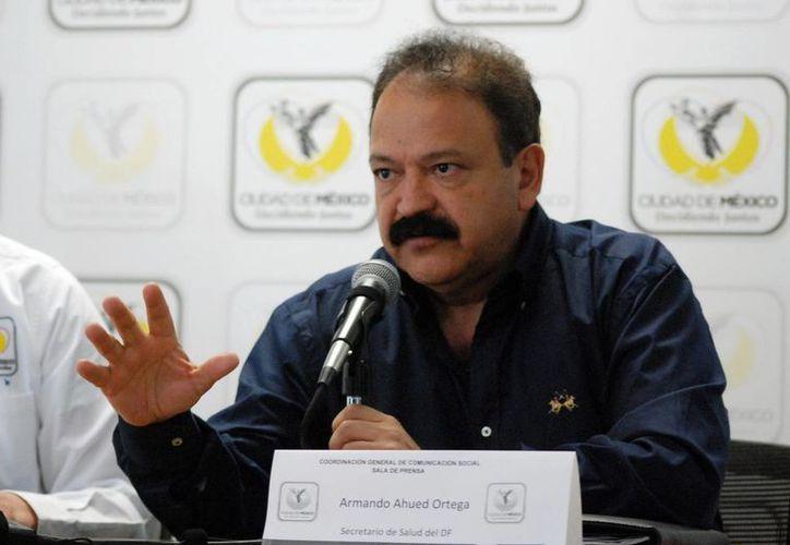 El secretario de Salud en el DF, Armando Ahued, declaró que falta determinar si la gasera fue la responsable de la explosión en el Hospital Materno Infantil de Cuajimalpa. (Notimex)