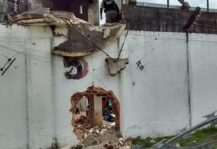 Casi 40 reos que escaparon de la penitenciaría Frei Damiao de Bozanno, en Recife. (sindasp.org.br)