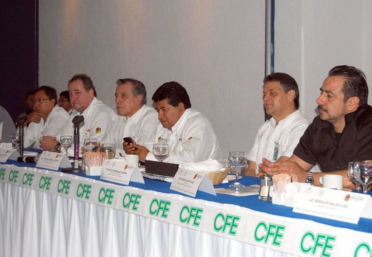 Celebración del XXIII Consejo Consultivo de la CFE en Quintana Roo. (Tomás Álvarez/SIPSE)
