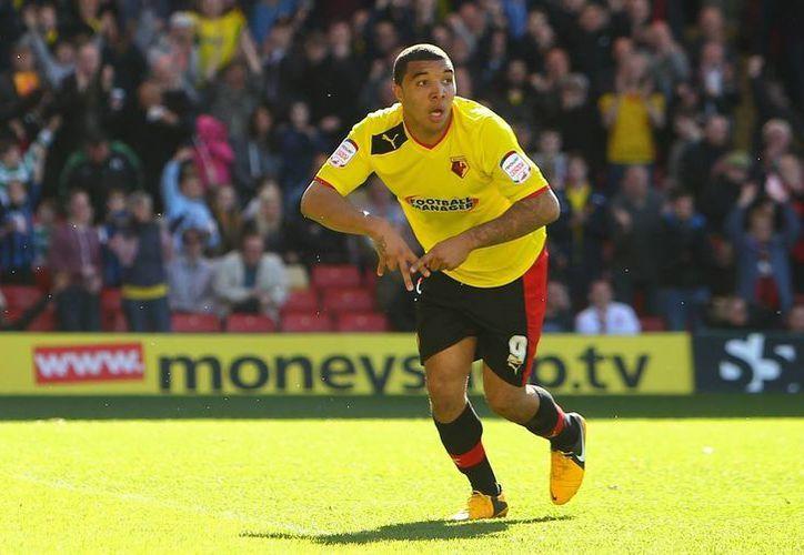 Troy Deeney hizo los dos goles del Watford en partido de la Segunda División de Inglaterra ante Wigan. (marcadorint.com/Foto de archivo)