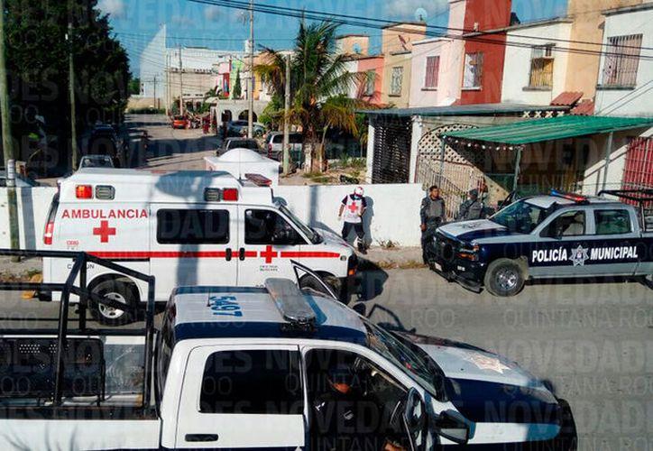 La policía acordonó la zona. (Redacción/SIPSE)