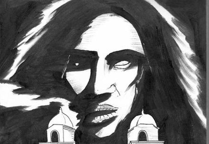 """""""Juana, la Catrina"""" fue vista, al mismo tiempo, en varios sitios de Temax, como la iglesia, el parque principal y rondando calles aledañas. (Jorge Moreno/SIPSE)"""