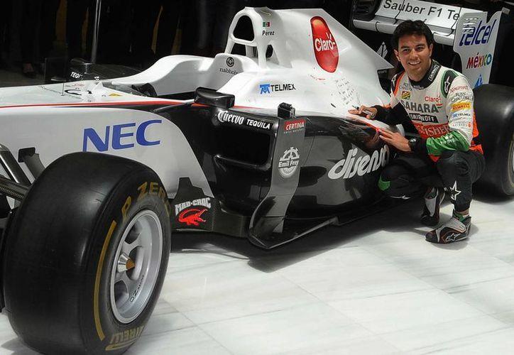 Los pilotos de Fórmula Uno deberán contar por lo menos con 18 años de edad a partir de 2016. En la foto, el mexicano Sergio Pérez, Checo. (Foto de archivo de Notimex)