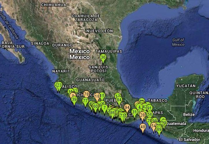 El Servicio Sismológico Nacional colocó en su sitio web la información sobre el sismo y su ubicación. (www.ssn.unam.mx)