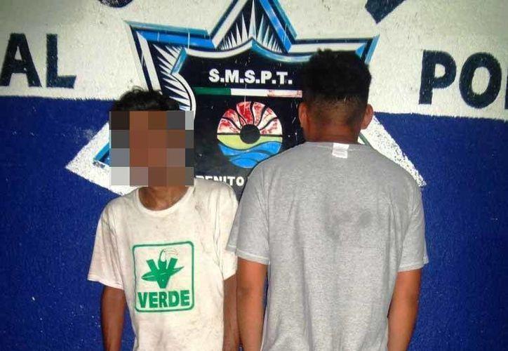 Los detenidos fueron trasladados a las instalaciones de la Secretaría Municipal de Seguridad Pública y Tránsito. (Redacción/SIPSE)