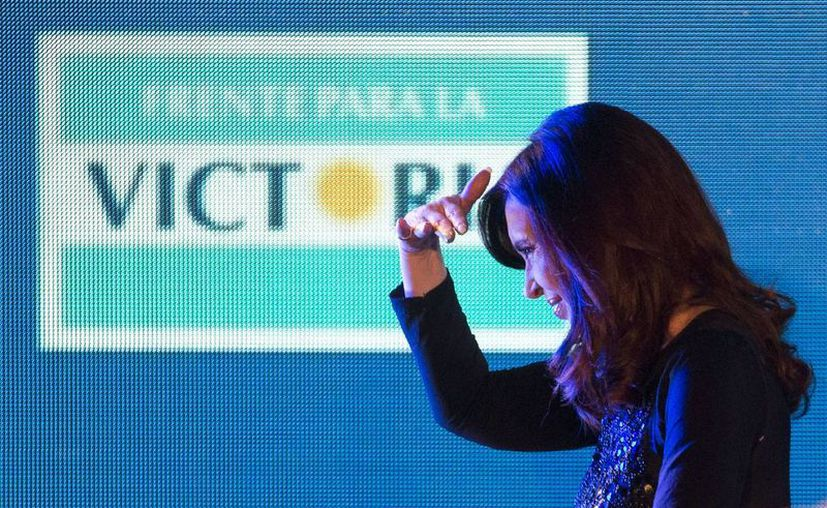 Frente para la Victoria, que encabeza Fernández, retuvo la primera mayoría pero solo un 26% del padrón electoral. (Agencias)