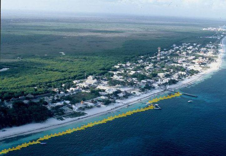 """El proyecto de colocación de """"esporas marinas"""" consiste en generar un arrecife artificial que ayudaría a mantener y hacer crecer los arenales con el paso del tiempo.  (Cortesía/INTEQuantum)"""