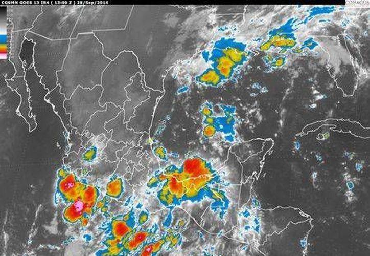 Se esperan fuertes tormentas en los estados de Jalisco, Nuevo León, Tamaulipas y San Luis Potosí. (Conagua)