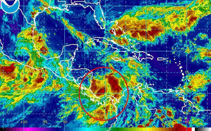 Depresión tropical podría formarse en las costas del caribe costarricense