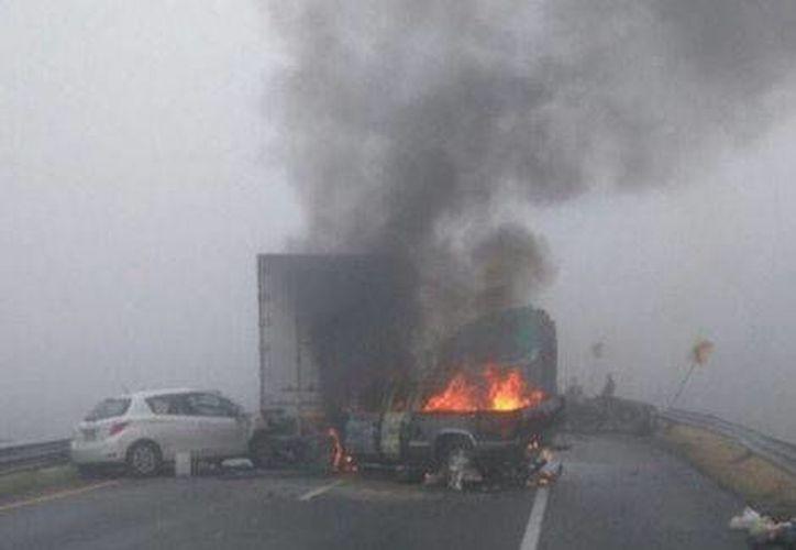 El accidente ocurrió en el kilómetro 38 de la carretera a Saltillo. (Yadith Valdez/Milenio)