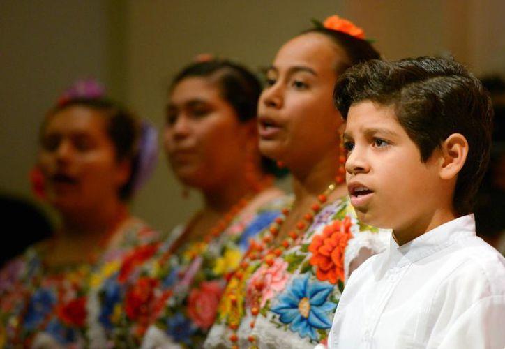 Los Niños Cantores de Yucatán estuvieron presentes en el  Año Dual México-Alemania. (Presidencia)