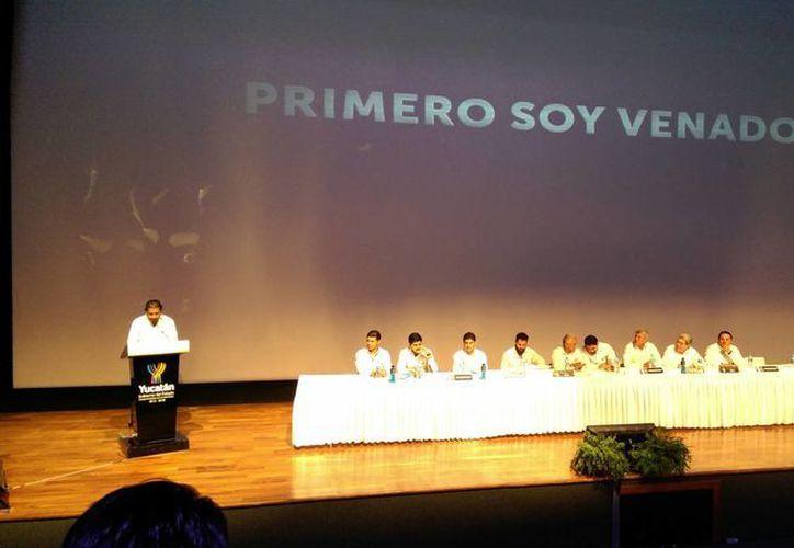 Imagen de la  presentación de los nuevos miembros que integrarán el Consejo Deportivo de los Venados FC. (Marco Moreno/SIPSE)