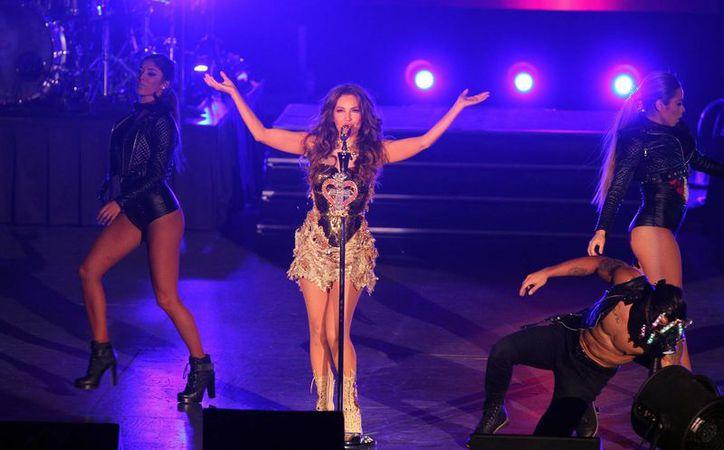 Thalía realizó un show de alrededor de dos horas, en donde interpretó todos los éxitos conocidos, así como los de su nueva producción discográfica. (Notimex)
