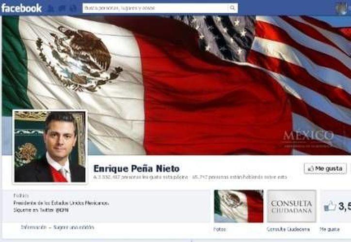 Captura de pantalla de la biografía de Facebook de Enrique Peña Nieto. (Internet)