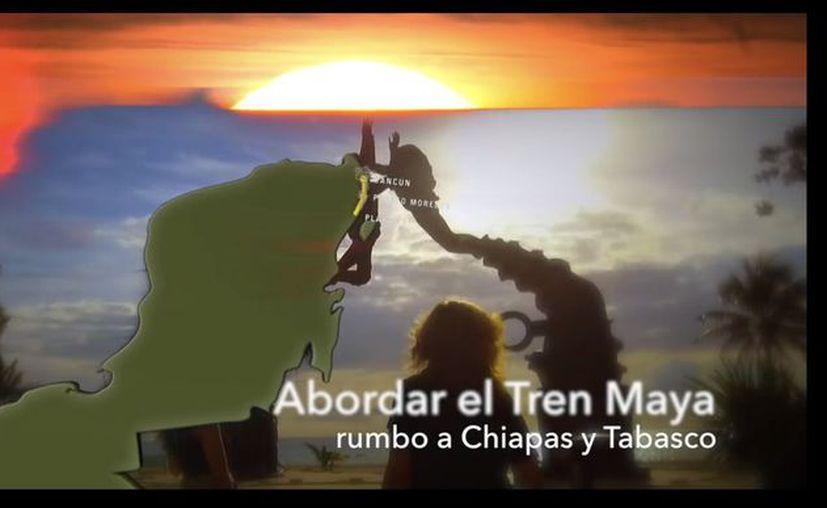 López Obrador lanzó tres videos sobre el Tren Maya en su cuenta de Twitter. (Internet)