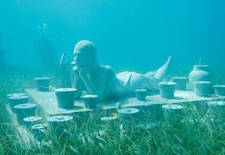 Promocionarán las imágenes de los salones del Museo Subacuático de Arte. (Archivo/SIPSE)